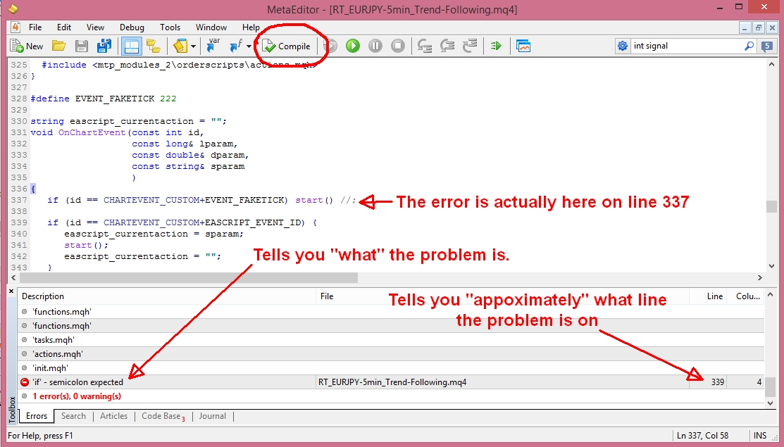 11. Compiling Error